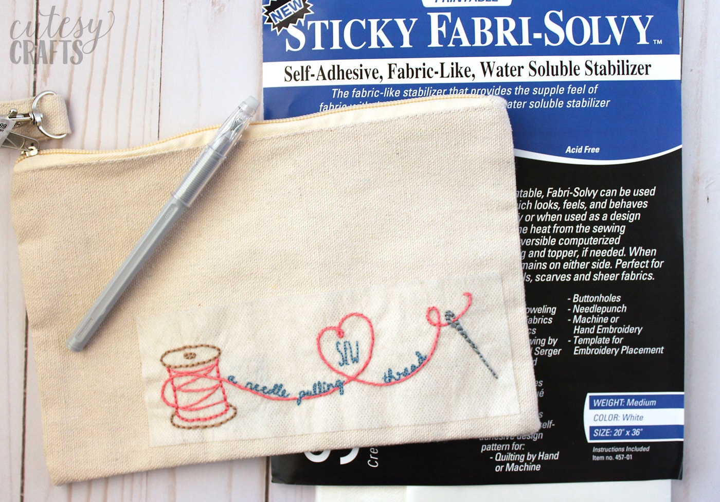 Make Embroidery Pattern Adorable Diy Sew A Needle Pulling Thread Bag Free Hand