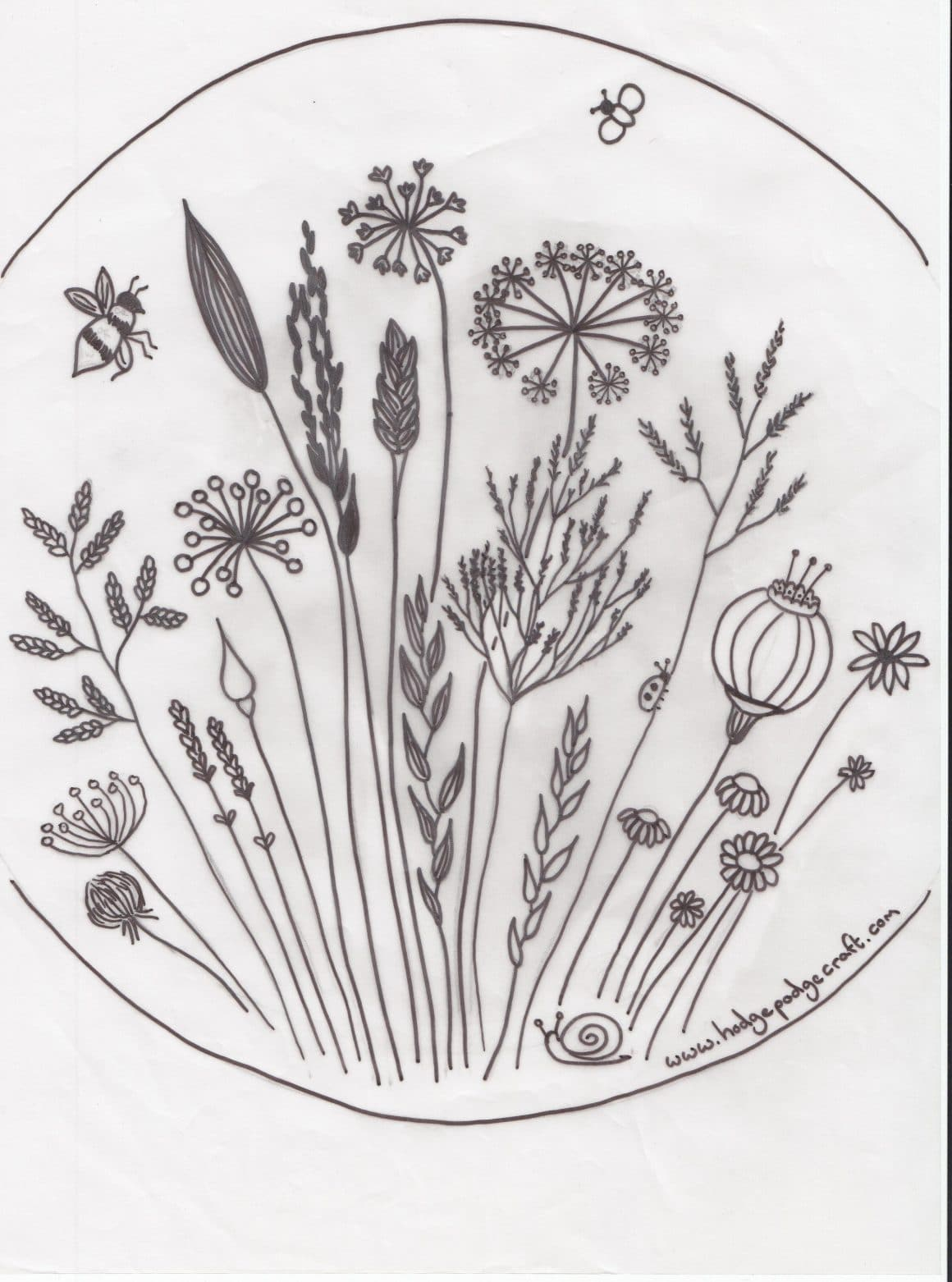 Make Embroidery Pattern Free Floral Meadow Embroidery Pattern