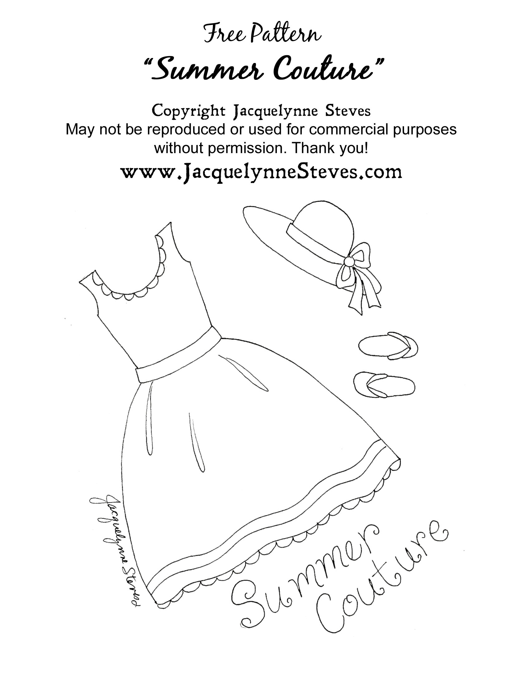 Make Embroidery Pattern Free Summer Couture Embroidery Pattern Jacquelynne Steves