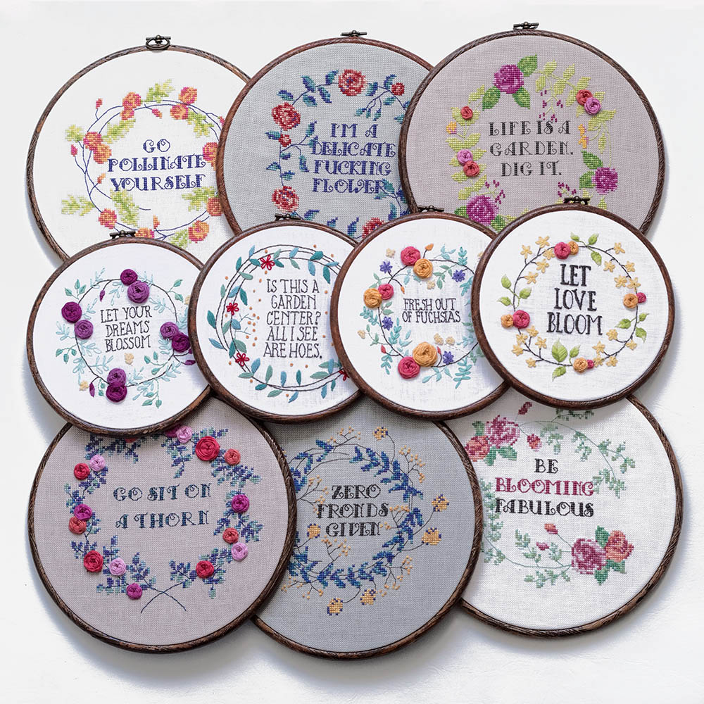 Make Embroidery Pattern Go Bloom Yourself Collection Pattern Set