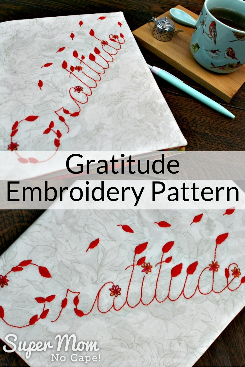 Make Embroidery Pattern Gratitude Embroidery Pattern Perfect To Make For Fall