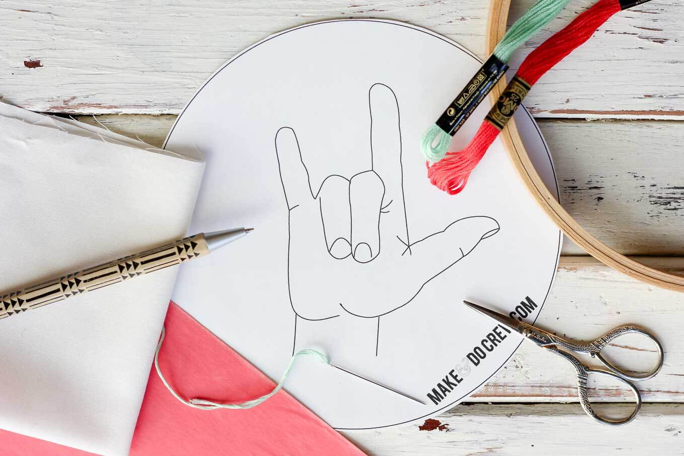 Make Embroidery Pattern I Love You Free Embroidery Pattern Make Do Crew