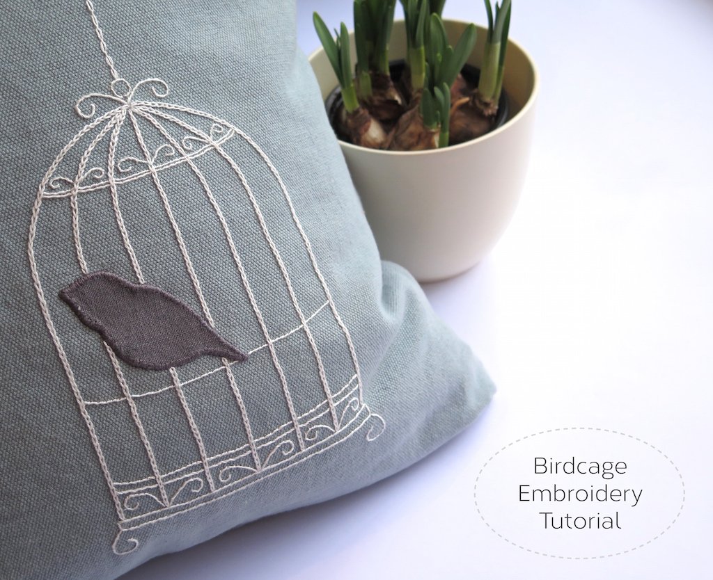Make Embroidery Pattern Springtime Sewing Birdcage Embroidery Pattern Hoogally