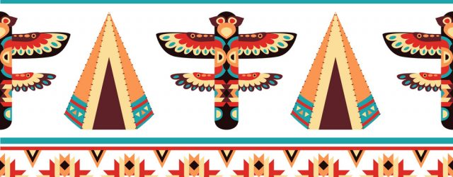 Native American Embroidery Patterns Ethnic Border Pattern Design