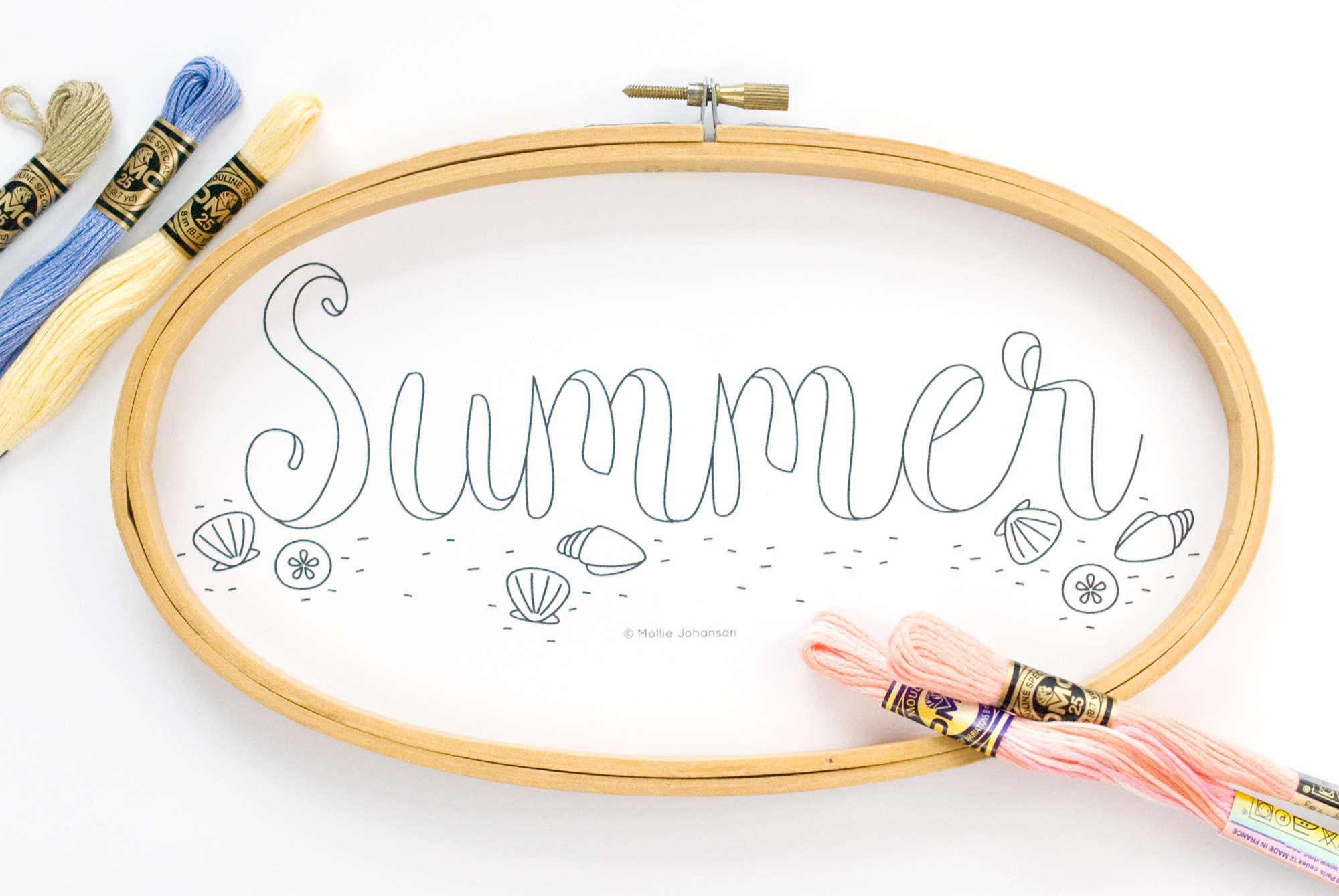 Nautical Embroidery Patterns Beachy Summer Word Art Embroidery Pattern