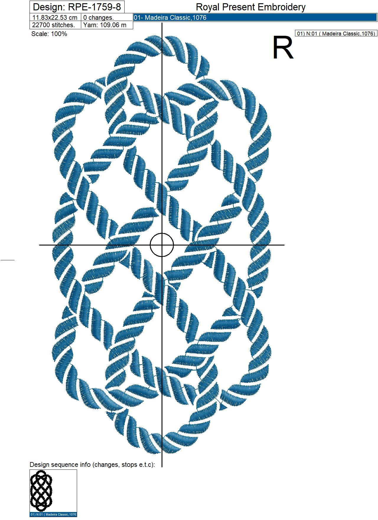 Nautical Embroidery Patterns Nautical Rope Knot Machine Embroidery Design 8 Sizes
