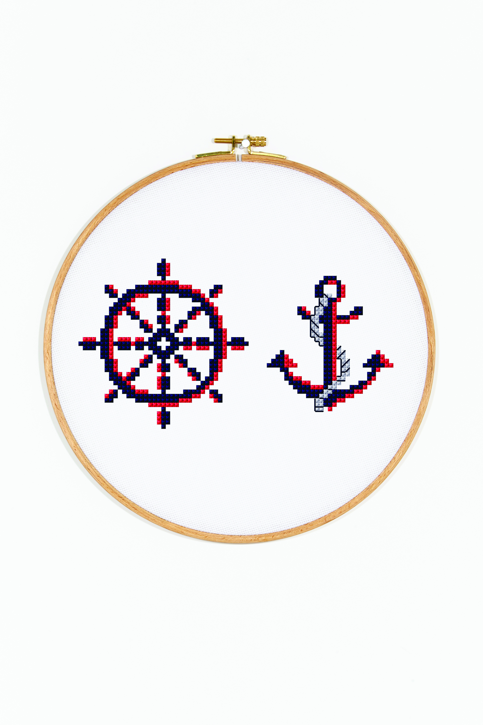 Nautical Embroidery Patterns The Nautical Anchor Cross Stitch Pattern