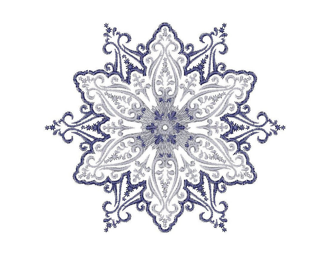 Patterns For Embroidery Machine Snowflake Embroidery Design Frost Patterns Embroidery Machine Embroidery Design Instant Download