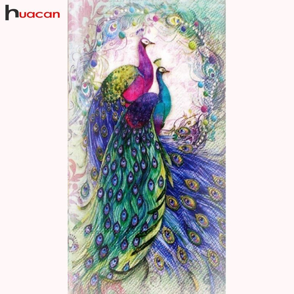 Peacock Embroidery Patterns Drill Shiny 5d Diamond Painting Peacock Cross Stitch Kits Diamond