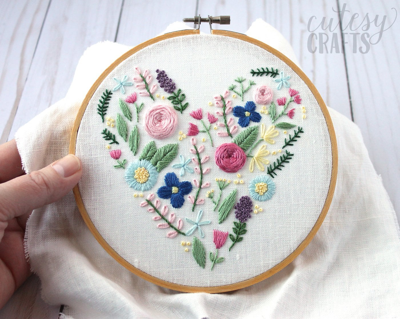 Peacock Hand Embroidery Pattern Floral Heart Hand Embroidery Pattern The Polka Dot Chair