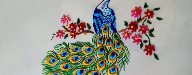 Peacock Hand Embroidery Pattern Hand Embroidery Peacock Embroidery
