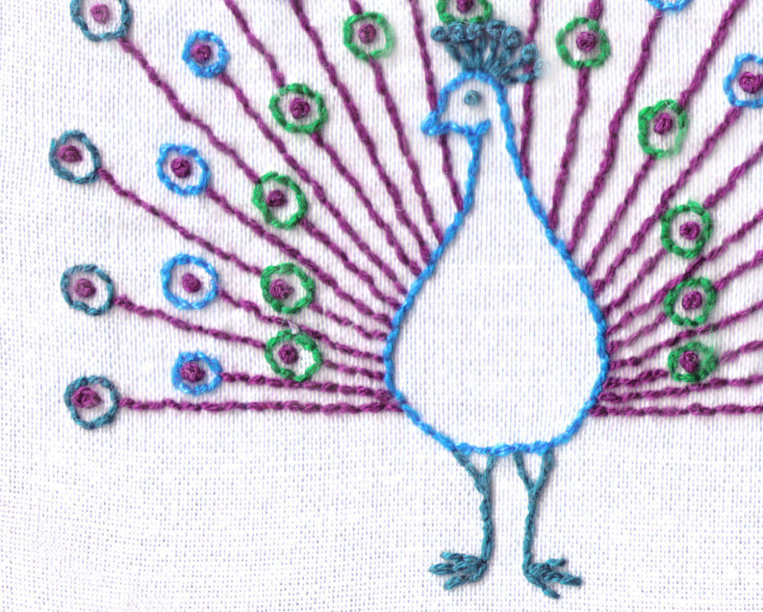 Peacock Hand Embroidery Pattern Peacock Hand Embroidery Pattern 1960s Mod Pdf