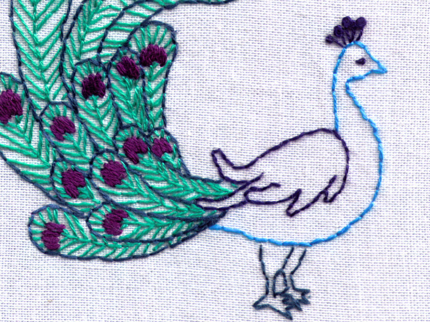 Peacock Hand Embroidery Pattern Peacock Hand Embroidery Pattern Bird Pdf