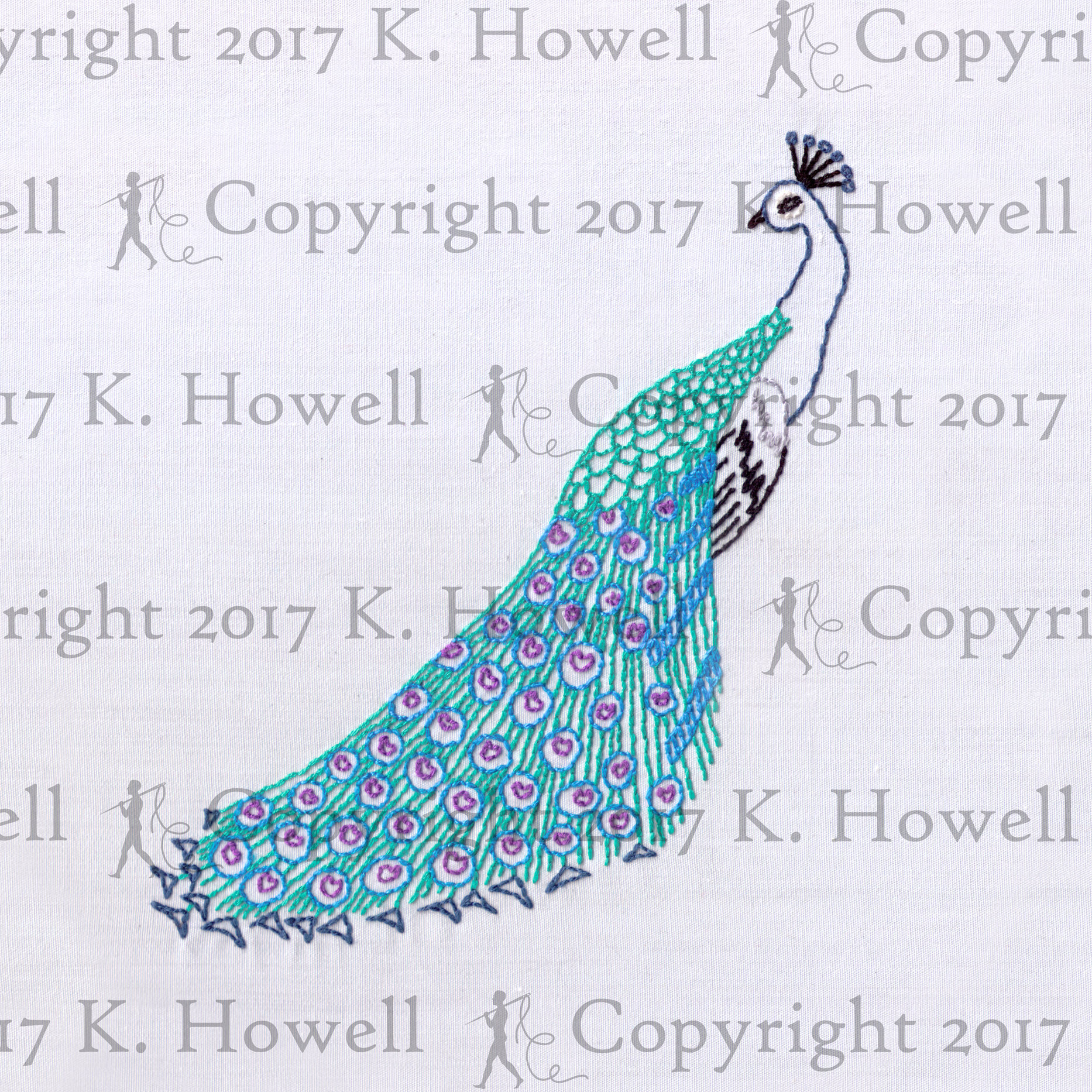 Peacock Hand Embroidery Pattern Peacock Hand Embroidery Pattern Peacock Exotic Bird Colorful Detailed Elegant Fowl Pea Cock Cock Animal Male Feather Wing Pdf