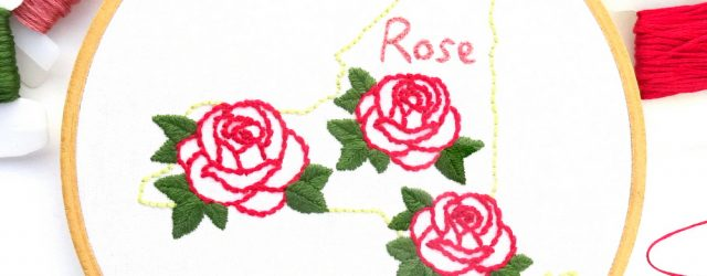 Rose Embroidery Pattern New York Flower Hand Embroidery Pattern Rose