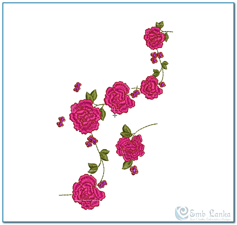 Rose Patterns For Embroidery 14 Rose Embroidery Designs Images Rose Machine Embroidery Border