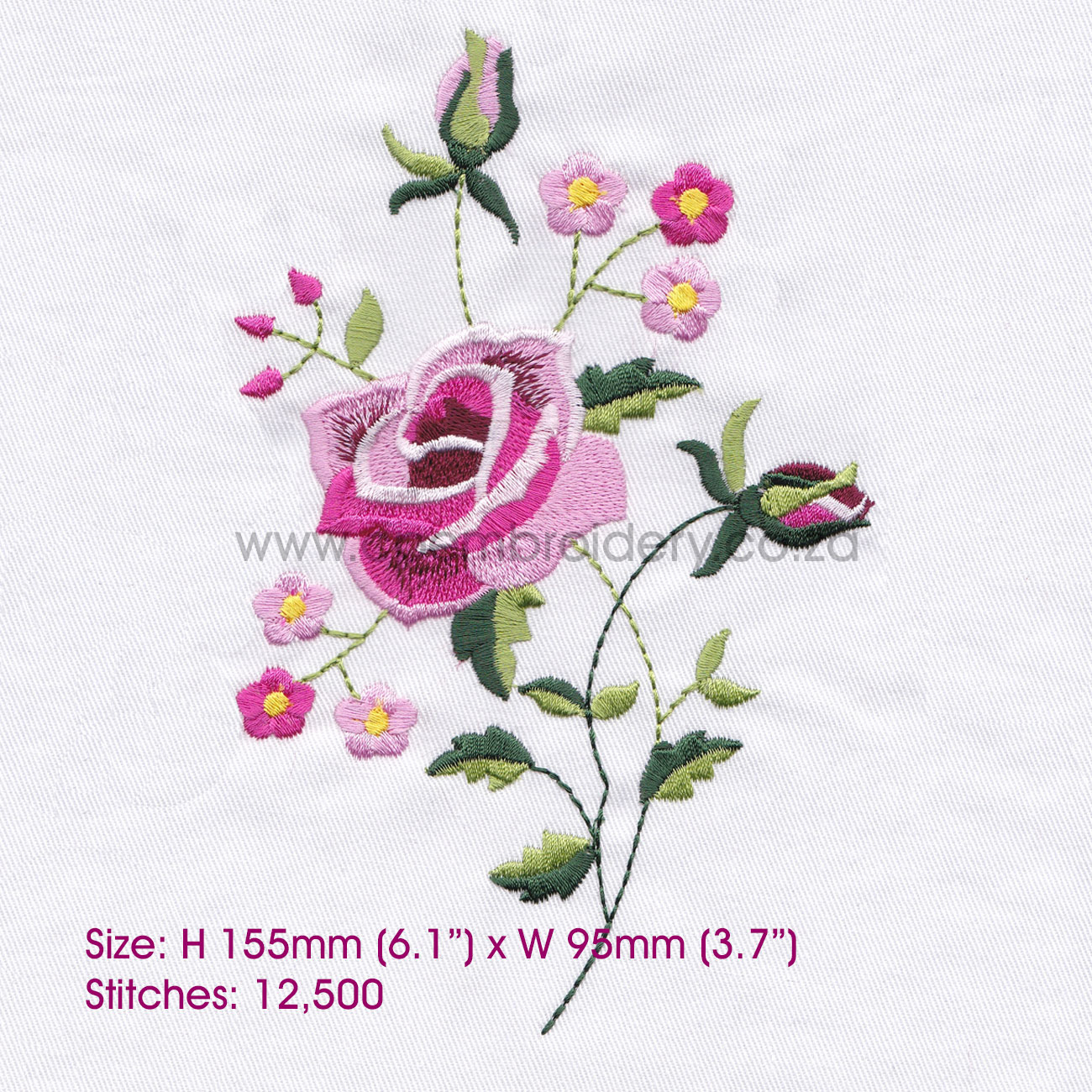 Rose Patterns For Embroidery Antique Single Rose Design