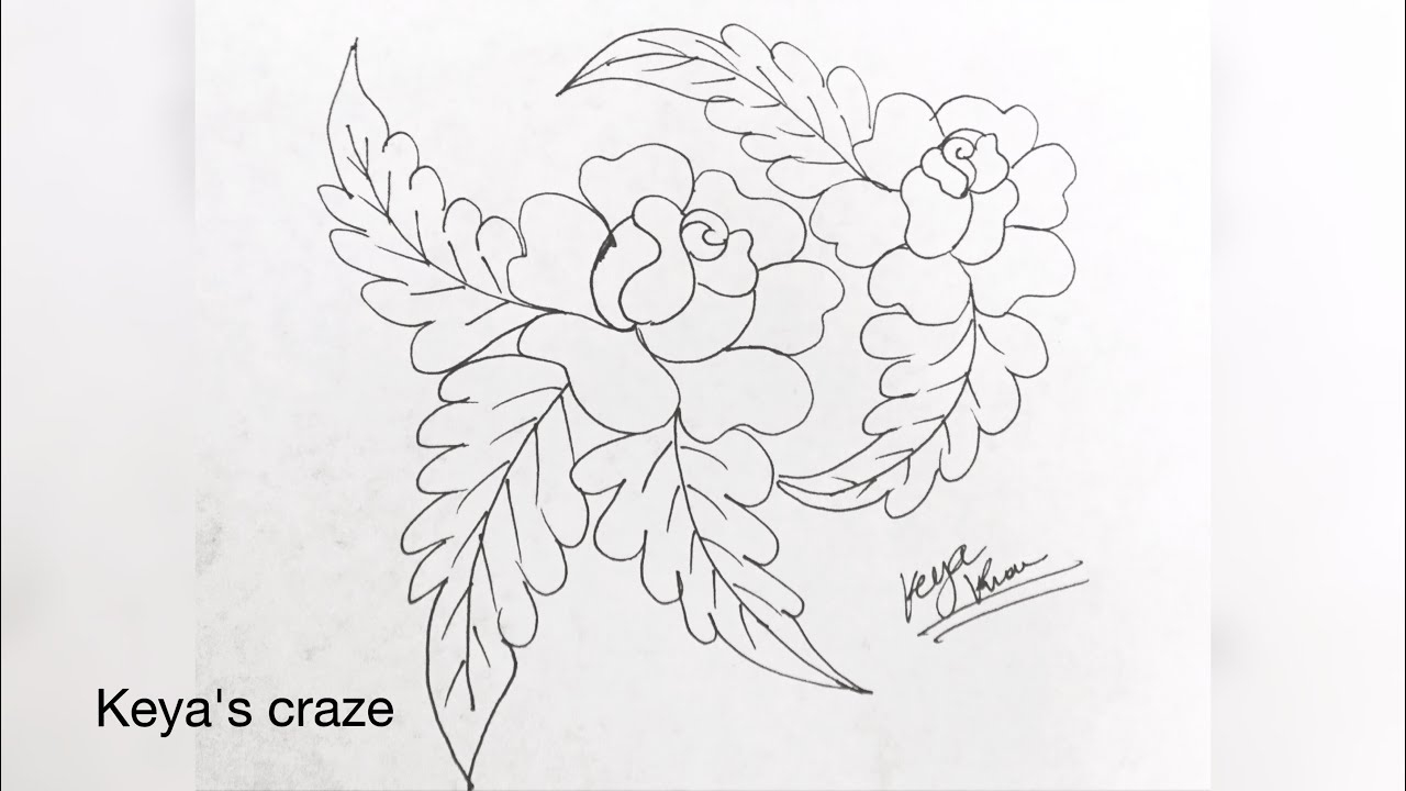 Rose Patterns For Embroidery Embroidery Designs Drawing At Paintingvalley Explore