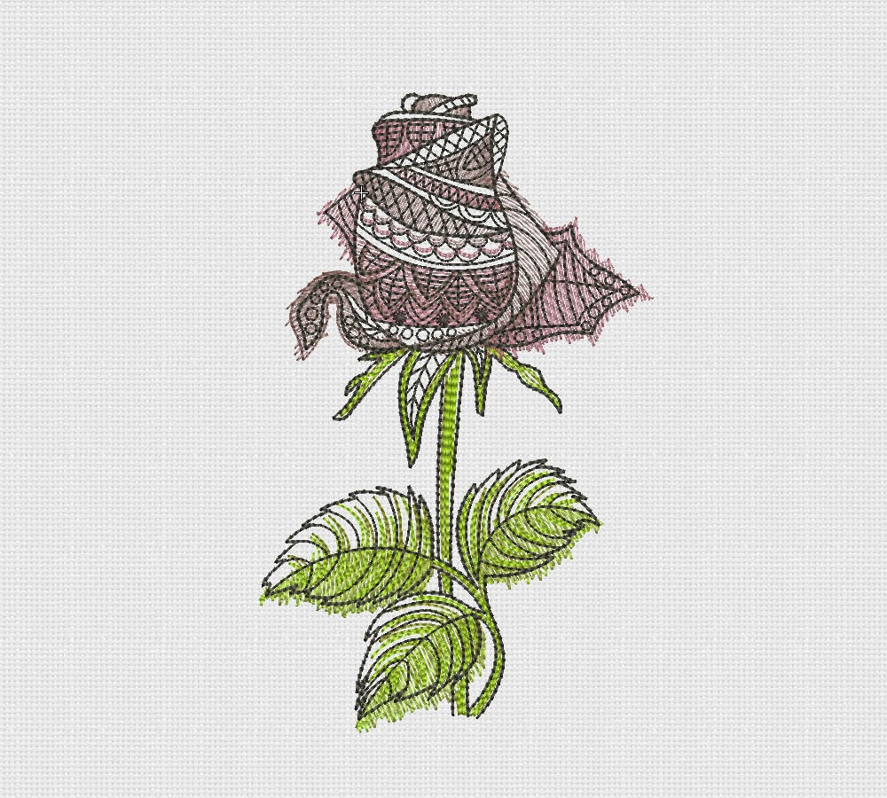 Rose Patterns For Embroidery Graphic Rose Embroidery Machine Design 5x7 Instant Download Charming Rose Embroidery Pearl Rose Design Art Decor Embroidery Sale Pes