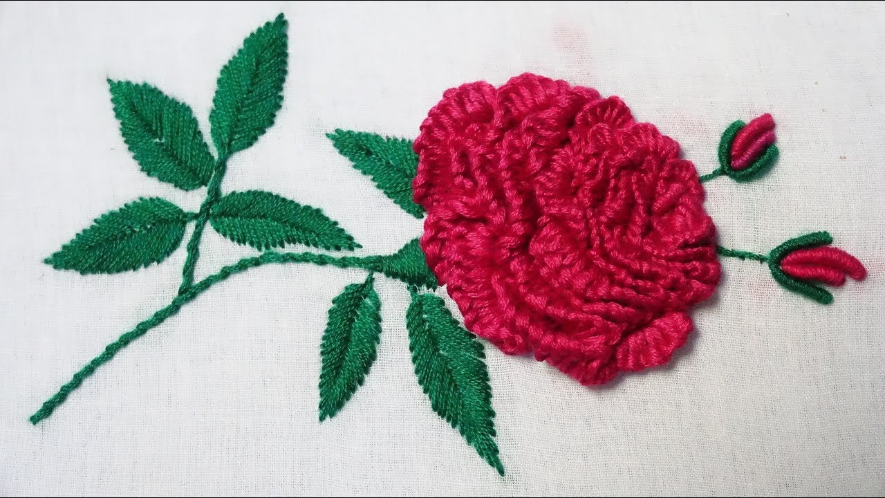 Rose Patterns For Embroidery Hand Embroidery Brazilian Embroidery Rose