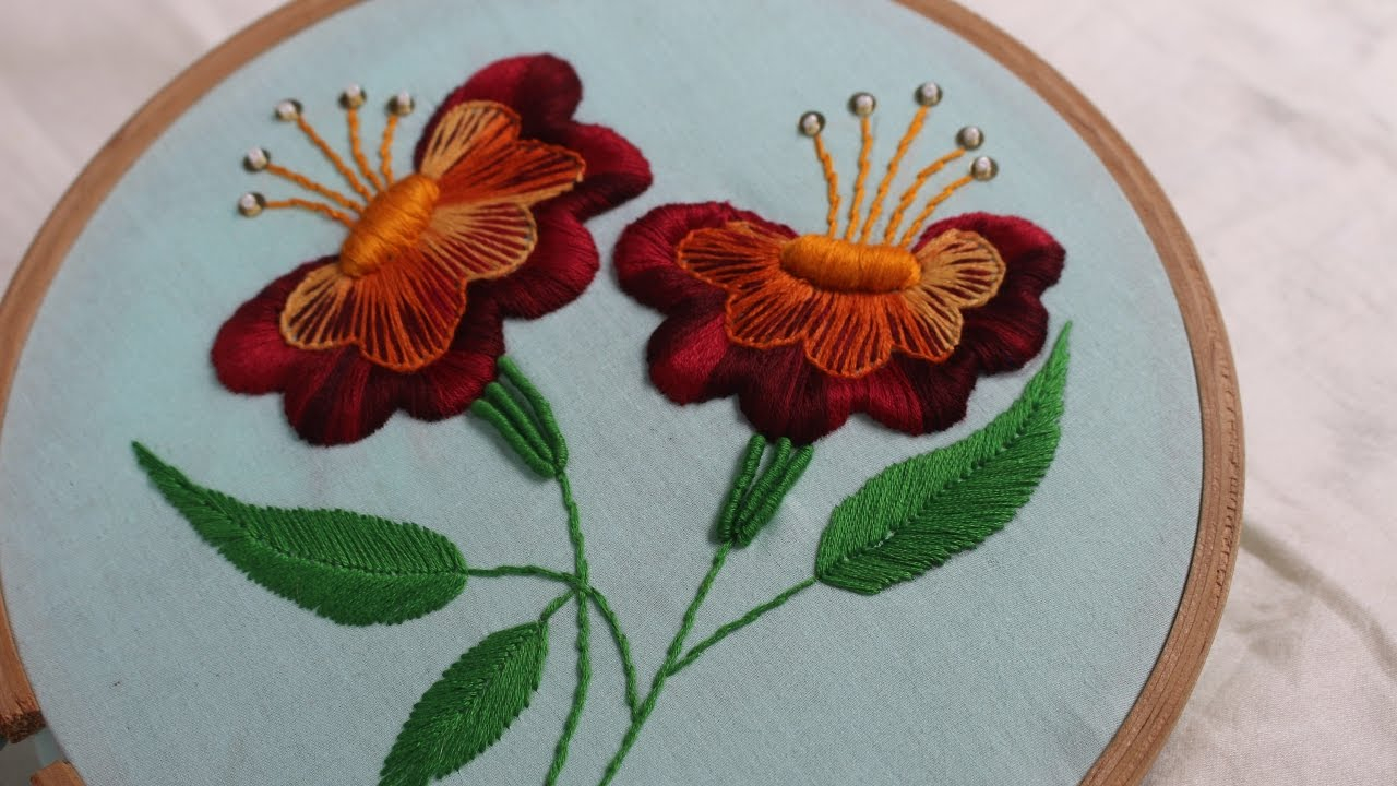 Rose Patterns For Embroidery Hand Embroidery Designs Jacobean Flower Design Stitch And Flower 131