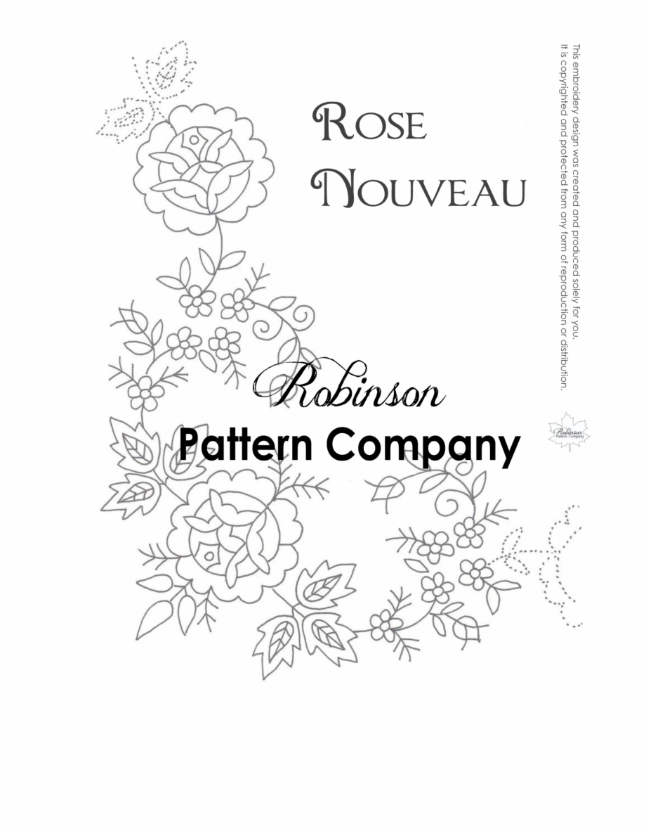 Rose Patterns For Embroidery Hand Embroidery Patterns Flowers Transparent Png Download For Free