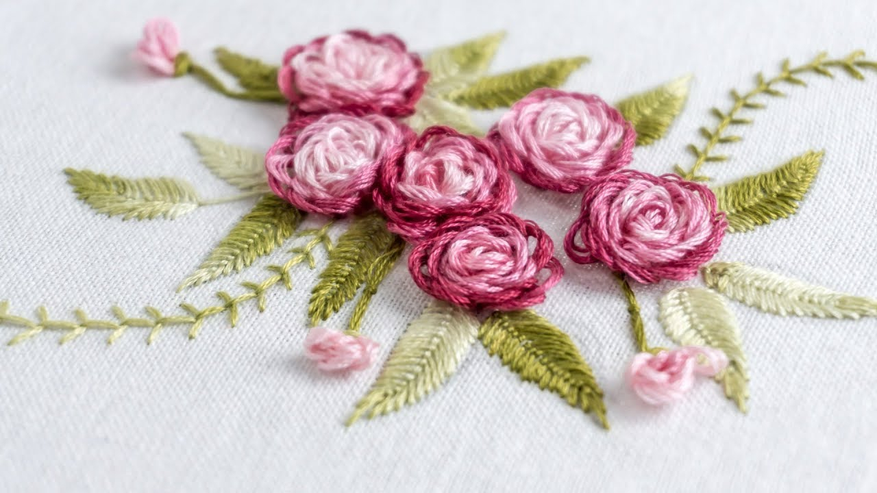 Rose Patterns For Embroidery Hand Embroidery Stitch Your Flower Patterns With Handiworks