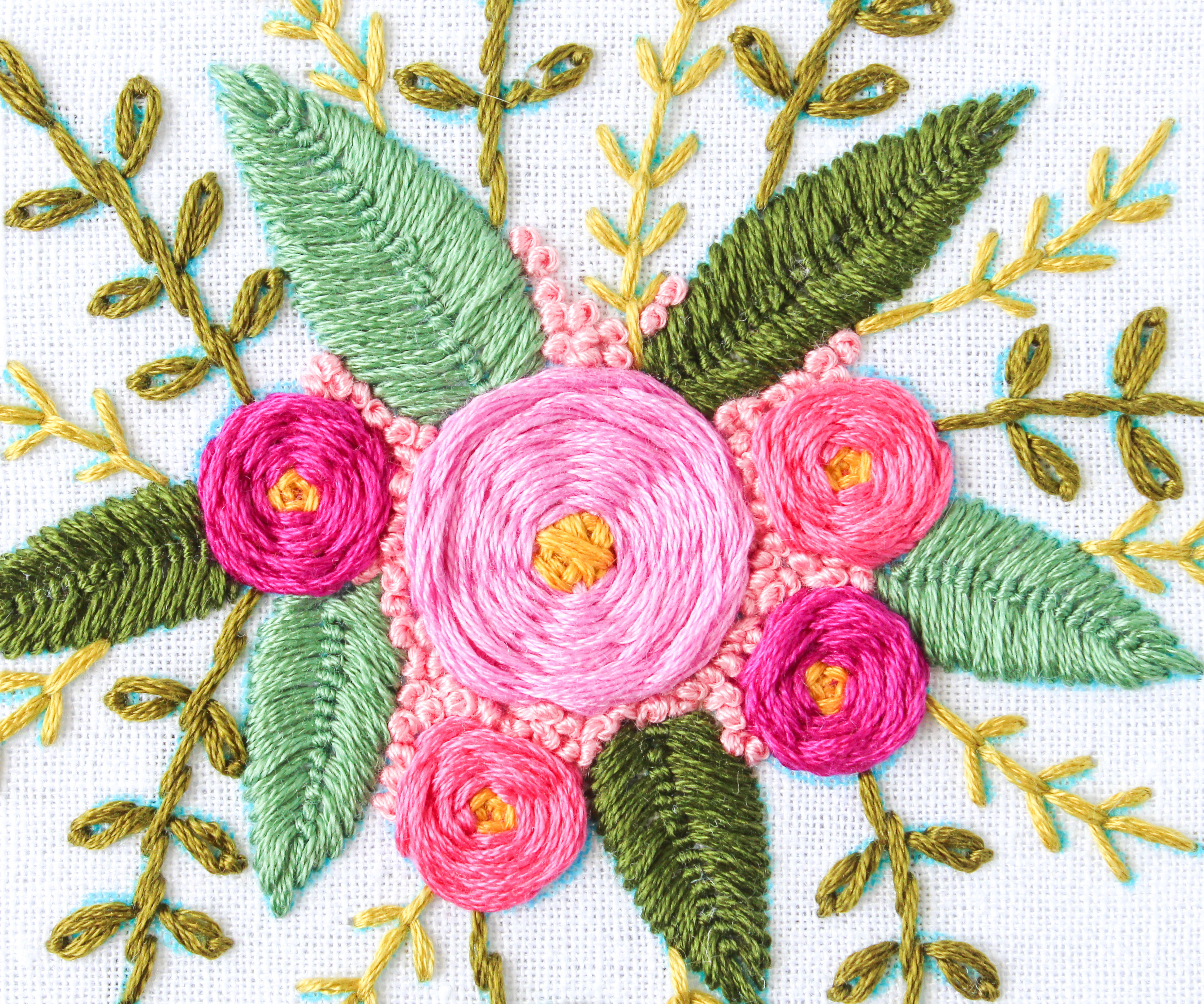 Rose Patterns For Embroidery How To Hand Embroider Flowers 7 Steps With Pictures