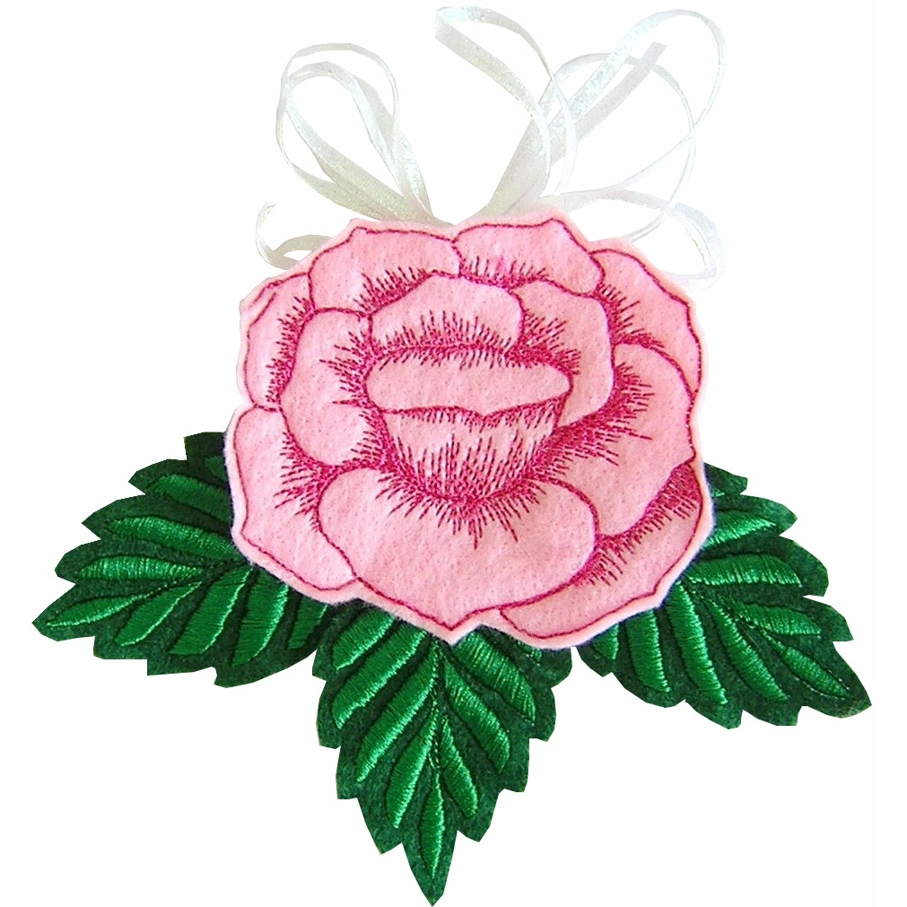 Rose Patterns For Embroidery Rose Sew In The Hoop Treatbag Embroidery Design 399 Golden