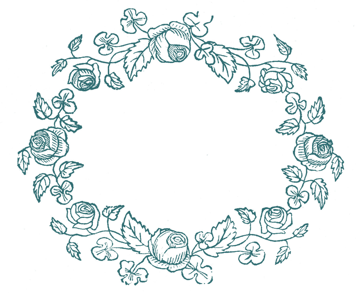Rose Patterns For Embroidery Royalty Free Images Rose Wreaths Embroidery Pattern The