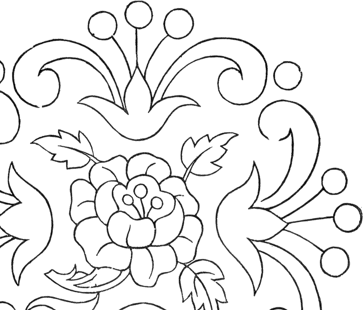 Rose Patterns For Embroidery Vintage Floral Embroidery Pattern The Graphics Fairy