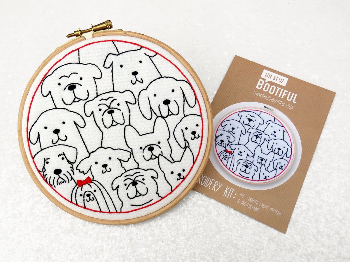 Stamped Embroidery Patterns Oh Sew Bootiful On Twitter Dogs Hand Embroidery Pattern Dogs