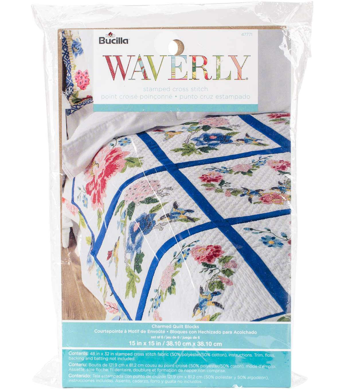 Stamped Embroidery Patterns Stamped Embroidery Quilt Blocks 15x15 6 Pack Waverly Charmed