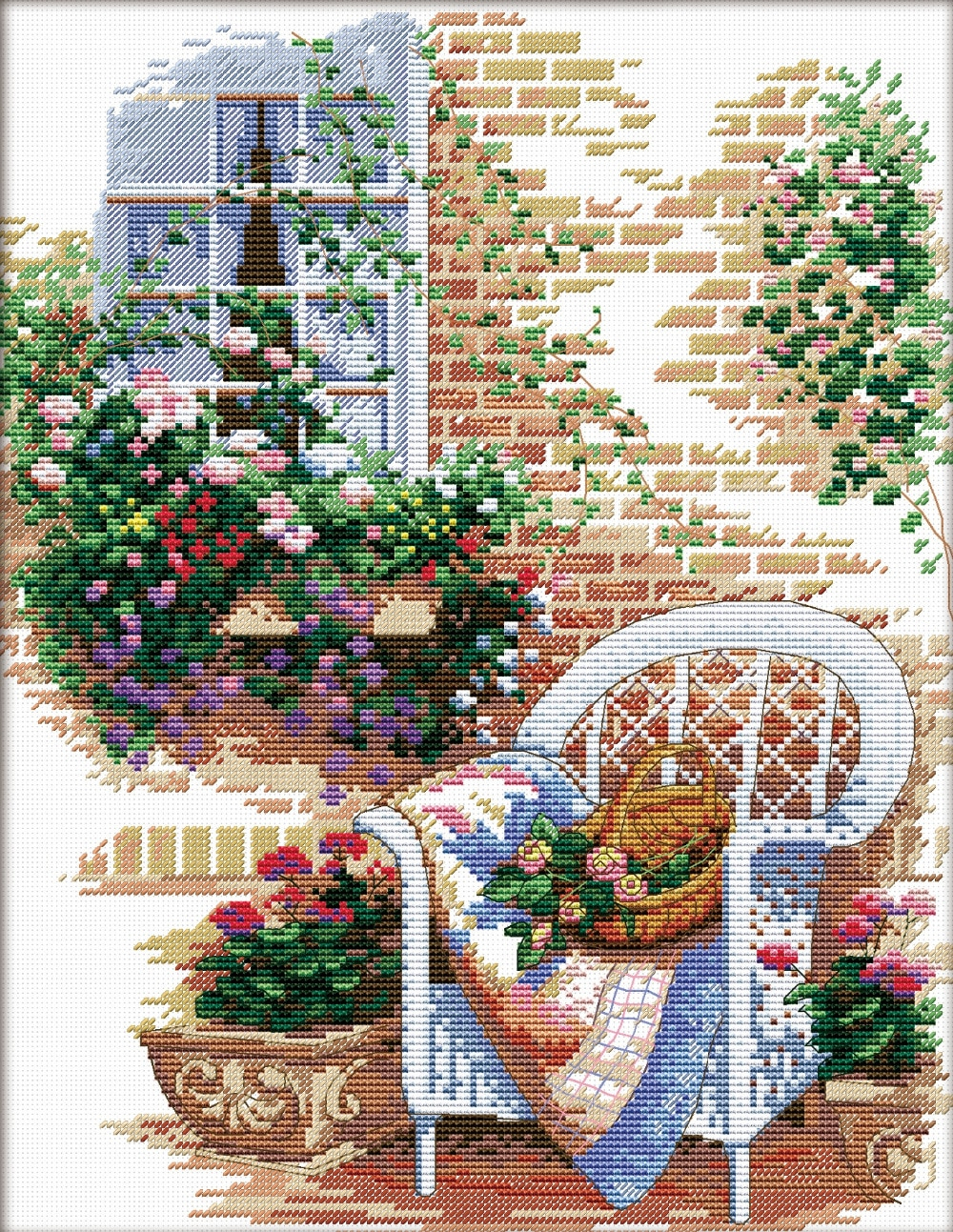 Stamped Embroidery Patterns Us 1199 40 Offstamped Counted Cross Stitch Patterns Flowering Windowsill Embroidery Kits 11ct Cotton Thread Painting Diy Needlework Home Decor In