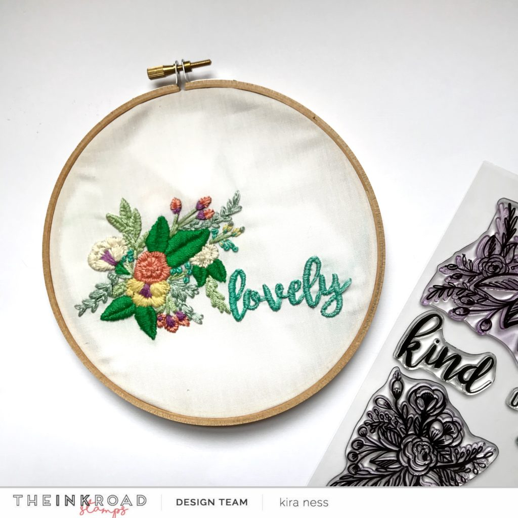 Stamped Embroidery Patterns Using Stamps As An Embroidery Pattern With Kira The Ink Road