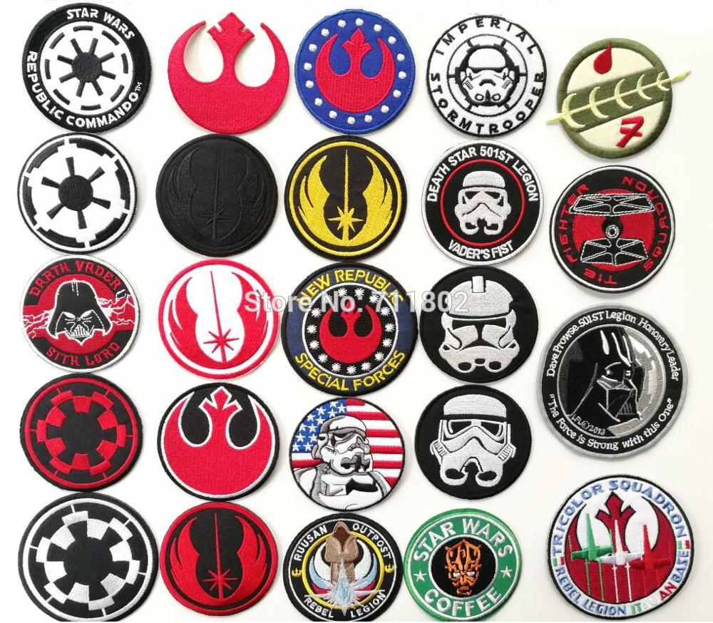 Star Wars Embroidery Pattern 501stlegion Star Wars Captain America Iron On Patches Biker Vest Patch Movie Tv Embroidery Appliques Badge Sewing Supplies