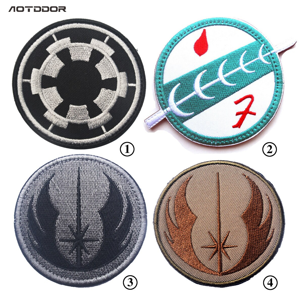 Star Wars Embroidery Pattern Embroidery Armband Star Wars Jedi Order Mandalorian Wave Bounty Hunter Boba Fett Emblem Patches