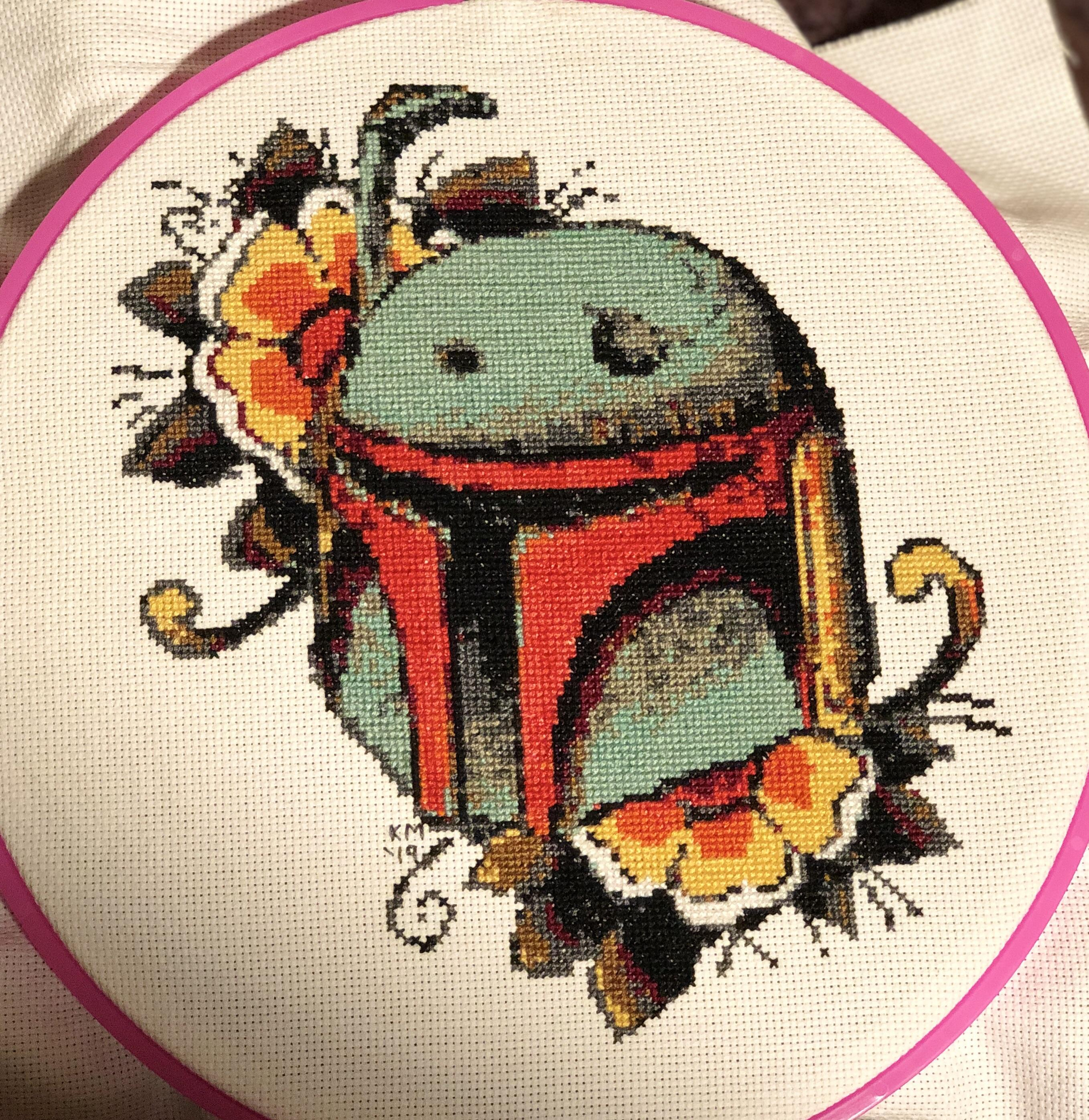 Star Wars Embroidery Pattern Fo Boba Fetts Helmet From Star Wars I Loved The Retro 70s
