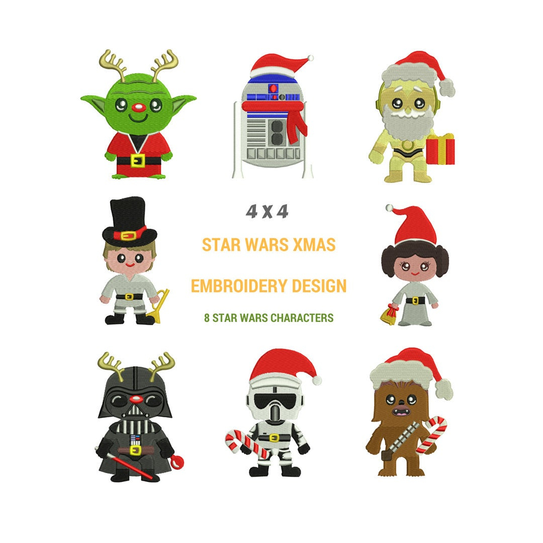 Star Wars Embroidery Pattern Star Wars Christmas Embroidery Designs Machine Embroidery Design Star Wars Embroidery Pattern Christmas Embroidery Patterns