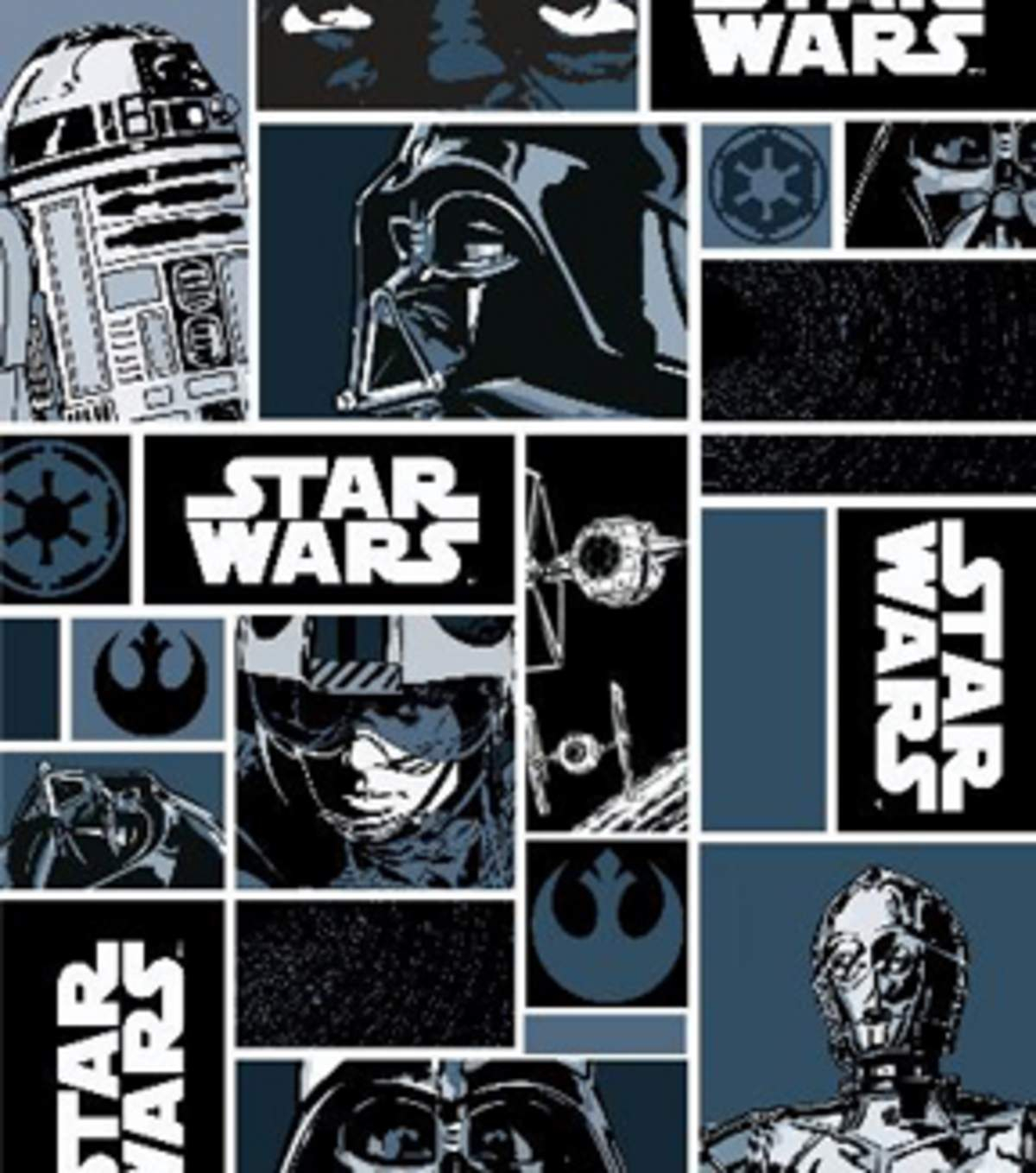 Star Wars Embroidery Pattern Star Wars Cotton Fabric Characters In Block