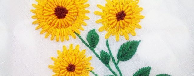Sunflower Embroidery Pattern Sunflower Embroidery Hand Embroidery Designs New Tutorial 5