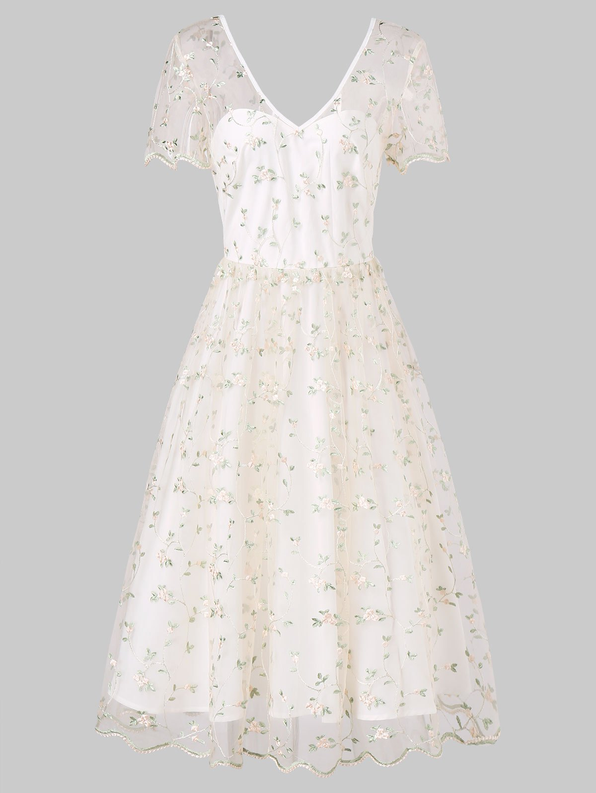 Wedding Dress Embroidery Patterns Tiny Floral Embroidery Wedding Bride Dress