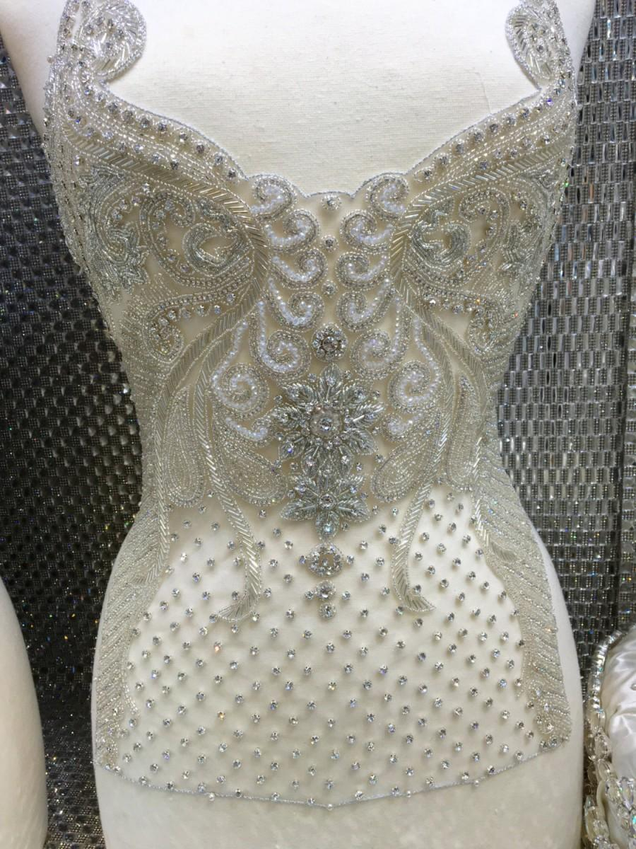 Wedding Dress Embroidery Patterns Wedding Gown Beaded Embroidery Bridal Gown Appliquebridal