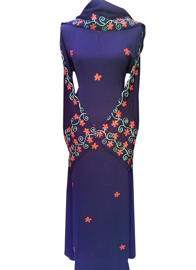 Abaya Embroidery Patterns Colorful Embroidery Abaya