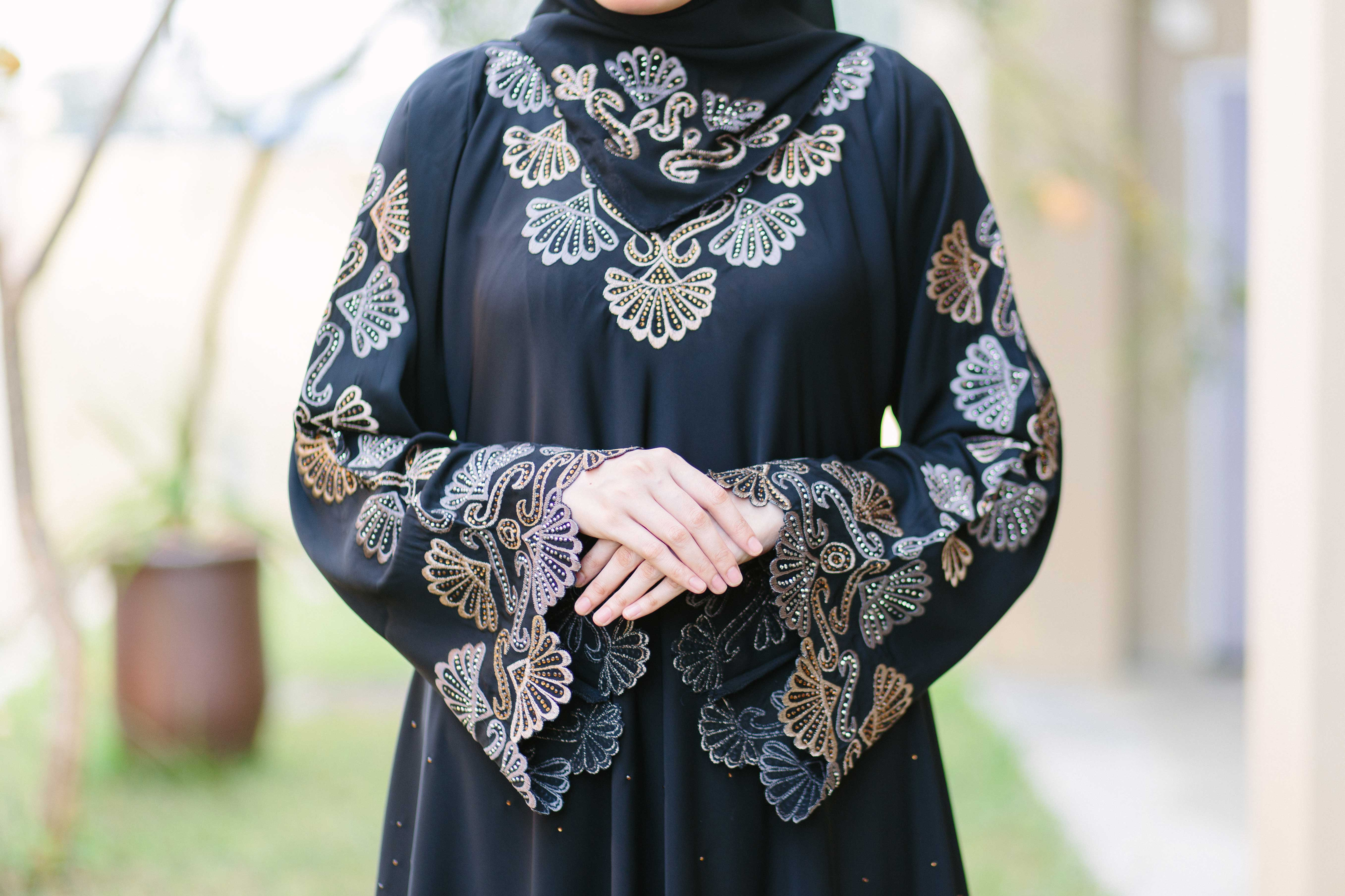 Abaya Embroidery Patterns Lavida Abaya
