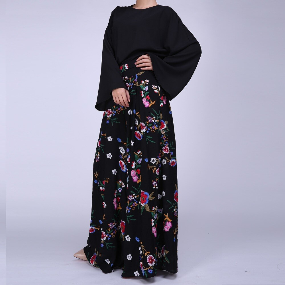 Abaya Embroidery Patterns Us 3199 Pettigirl Abaya Dress Islamic Clothing Muslim Floral Pattern Suit Women Fashion Muslin Outfits In Womens Sets From Womens Clothing On