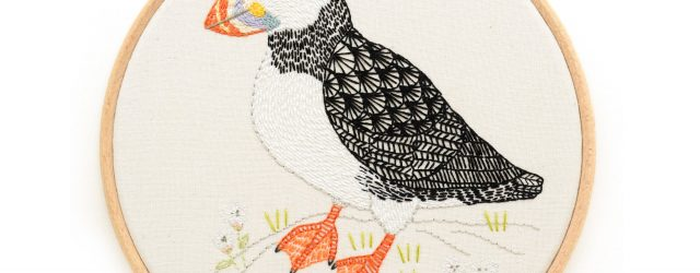 Bird Embroidery Pattern Bird Embroidery Pattern Pdf Download Puffin Embroidery Hoop Art Pattern