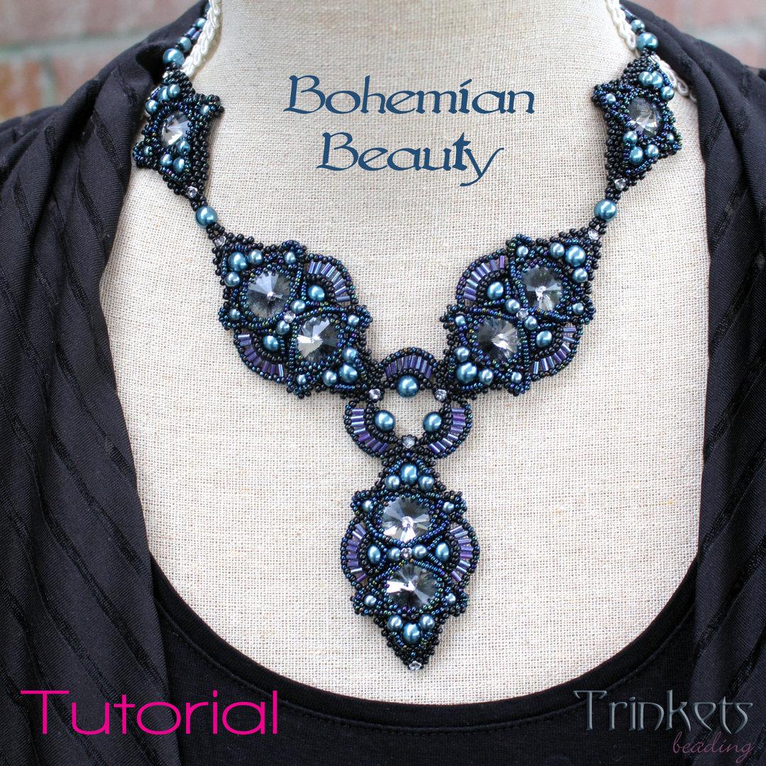 Bohemian Embroidery Patterns Beading Pattern Necklace Bohemian Beauty