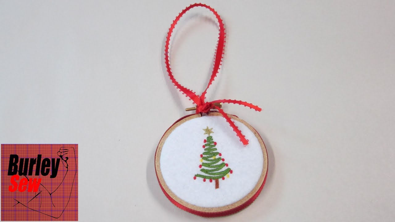 Christmas Embroidery Patterns Last Minute Embroidery Hoop Christmas Ornament And Holiday Wishes