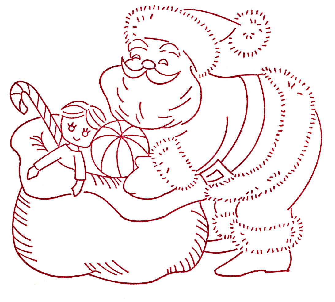 Christmas Embroidery Patterns More Vintage Christmas Embroidery Transfers Q Is For Quilter